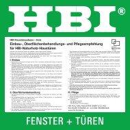 Einbau Naturholztüren_8/02 - HBI Holz-Bau-Industrie GmbH & Co. KG
