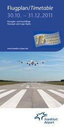 26.10.2002 Flugplan/Timetable 30.10. – 31.12.2011 - FRM