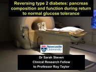 Reversing type 2 diabetes: pancreas composition and function ...