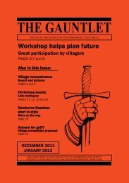 THE GAUNTLET - Kings Somborne - Village Website