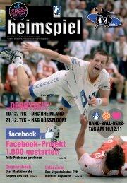 Heimspiel - TV Korschenbroich Handball