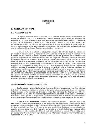 ESTRONCIO - Instituto Geológico y Minero de España