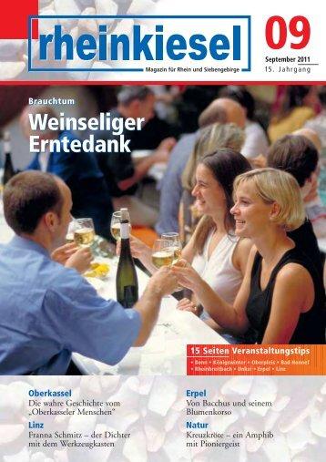 Brauchtum Weinseliger Erntedank Brauchtum ... - Rheinkiesel
