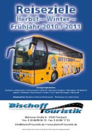 Mehrener Straße 8 - 57635 Fiersbach Fon: 0 26 ... - Bischoff Touristik