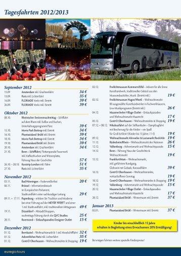 Tagesfahrten 2012/2013 - Euregiotours