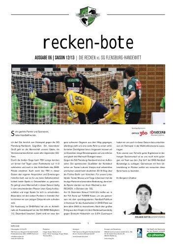 RECKEN VS. Sg flENSbuRg-haNDEwItt - TSV Hannover-Burgdorf