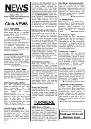 Club-NEWS TURNIERE - FEN