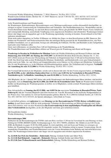 Vorsitzende Wiebke Klinkenborg, Schubertstr. 7, 30161 Hannover, Tel
