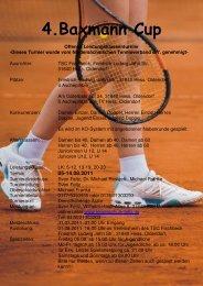 Anmeldungen unter: www.tennisschule-feltz.de