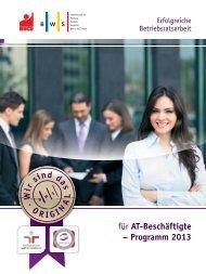 Programm Erfolgreiche Betriebsratsarbeit für AT-Beschäftigte 2013
