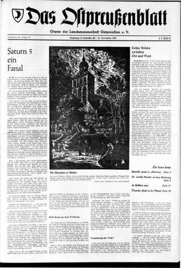Folge 47 vom 25.11.1967 - Archiv Preussische Allgemeine Zeitung