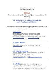 Willkommen beim BIGTuS - Sportkreis Heidelberg e.V.