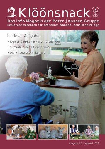 Das Info-Magazin der Peter Janssen Gruppe - Print Media Werbung ...