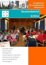 Ausgabe 2012-3 - Evangelische Kirchengemeinde Neubeckum