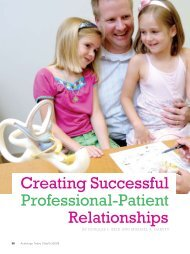 Creating Successful Professional-Patient Relationships - American ...