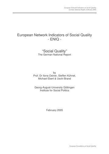German - European Foundation on Social Quality