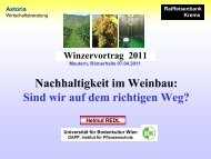 Winzervortrag 2011. Nachhaltigkeit im Weinbau. (pdf) - Raiffeisen