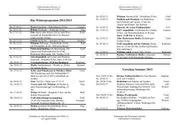 Das Winterprogramm 2011/2012 - Faltbootwanderer Bremen e.V.