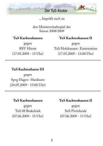 TuS Kachtenhausen II - TuS Kachtenhausen Kicker