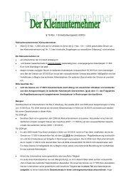 Merkblatt zur Besteuerung von Kleinunternehmern - Finanzamt