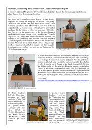 Feierliche Einweihung der Neubauten der Landesfinanzschule Bayern