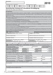 Vereinfachter Antrag auf Lohnsteuer-Ermäßigung - Finanzamt