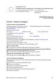 Vergabebekanntmachung herunterladen -  Finanzämter in Bayern