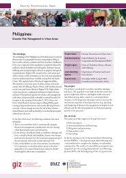 Philippines: - Gtz - Deutsche Gesellschaft für Internationale ...