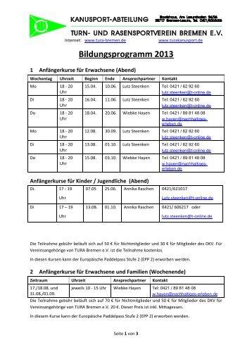 Bildung/Kurse - TURA Bremen eV