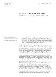 reconstructing the balloon frame - Journal of the Faculty of Architecture