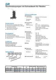 GR Tauchmotorpumpen mit Schneidwerk für ... - Speck Pumpen