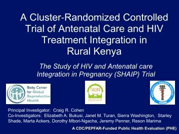 A Cluster-Randomized Controlled Trial of - Integration for Impact