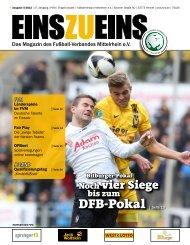 EINSZUEINS 05/2012 - Fußball-Verband Mittelrhein e.V.