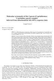 a-turan.vp:CorelVentura 7.0 - Institute of Systematics and Evolution ...