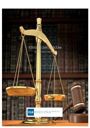 ENGLISH: Law Study Case