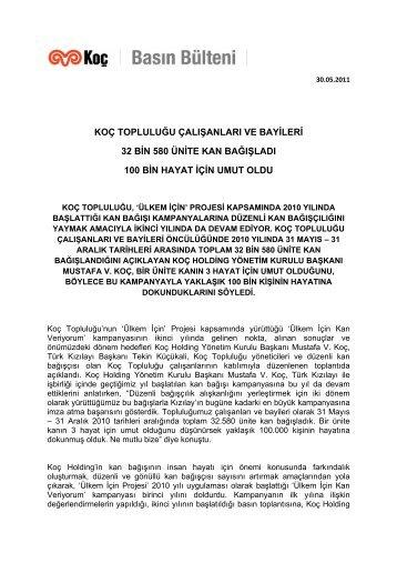 30-05-2011_Ulkem_Icin - Koc Holding