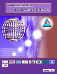 International Journal on Advances in Networks and ... - IARIA Journals