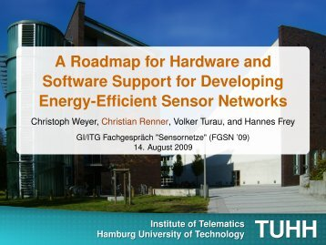 A Roadmap for Hardware and Software Support for ... - TUHH