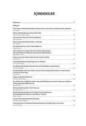 İÇİNDEKİLER - Türk Kültürü ve Hacı Bektaş Velî Araştırma Dergisi