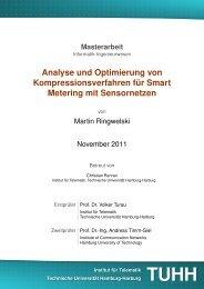 Analyse und Optimierung von Kompressionsverfahren für Smart ...