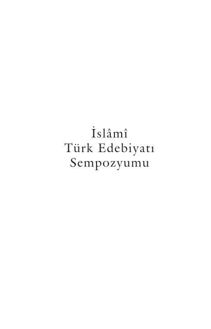 Turk Islam Edebiyati Kavramiyla Hangi Edebi Alani Islami Turk
