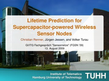 Lifetime Prediction for Supercapacitor-powered Wireless ... - TUHH