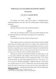Türk Halk Anlatılarında Ölüm Ruhu Motifi - Çukurova Üniversitesi ...