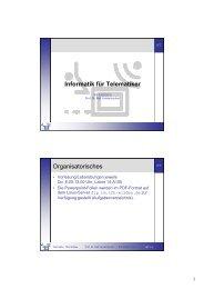 Informatik für Telematiker Organisatorisches - Telematik TH Wildau