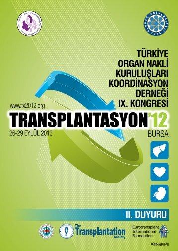 türk‹ye organ nakl‹ kuruluşları koord‹nasyon derneğ‹