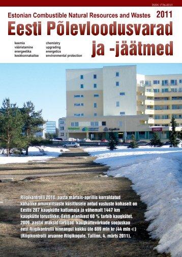 """Ajakiri """"EESTI PÕLEVLOODUSVARAD JA -JÄÄTMED"""" 2011.a"""