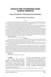 Kutsalın Türk Kültüründeki İzleri - Milli Folklor
