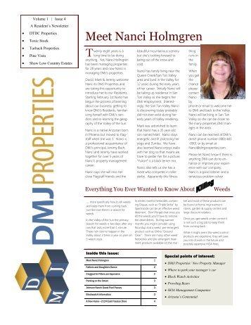 Vol. 1 – Issue 4 – Feb 01, 2012 - DMJ Properties is a Real Estate ...