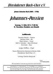 Johannes-Passion -2012 Info - Dinslakener Bach-Chor eV