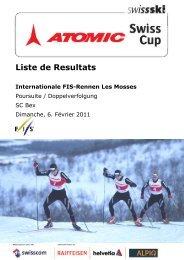 Liste de Resultats - Swiss-Ski